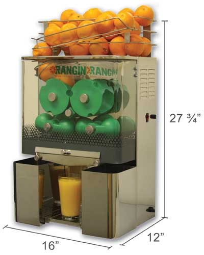 Orangin Commercial Automatic Orange Juicer Citrus Squeezer Cold Press